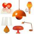 Contemporary lighting options in Tangerine Tango
