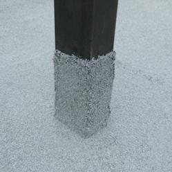 Tuff-Flash™ liquid-applied mastic is an easy to apply, durable roof flashing system that provides superior water protection and weathering capabilities photo