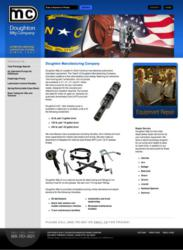 Web Design by IndustrialWebSolutions.com for Doughton Mfg. Generates Leads and Conversions
