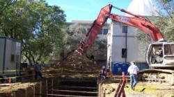 Kana Pipeline installs green storm drainage systems at Caltech.