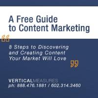 Internet Marketing Company | Vertical Measures - A Free Guide to Content Marketing - Vertical Measures on Facebook - Vertical Measures on Twitter - Vertical Measures on LinkedIn - Vertical Measures RSS -