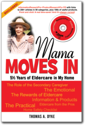 Original Elder Care Book Cover for Mama Moves In