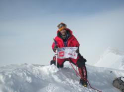 Romi Garduce atop Vinson Massif's peak