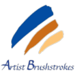 The New Artist Brushstrokes Logo