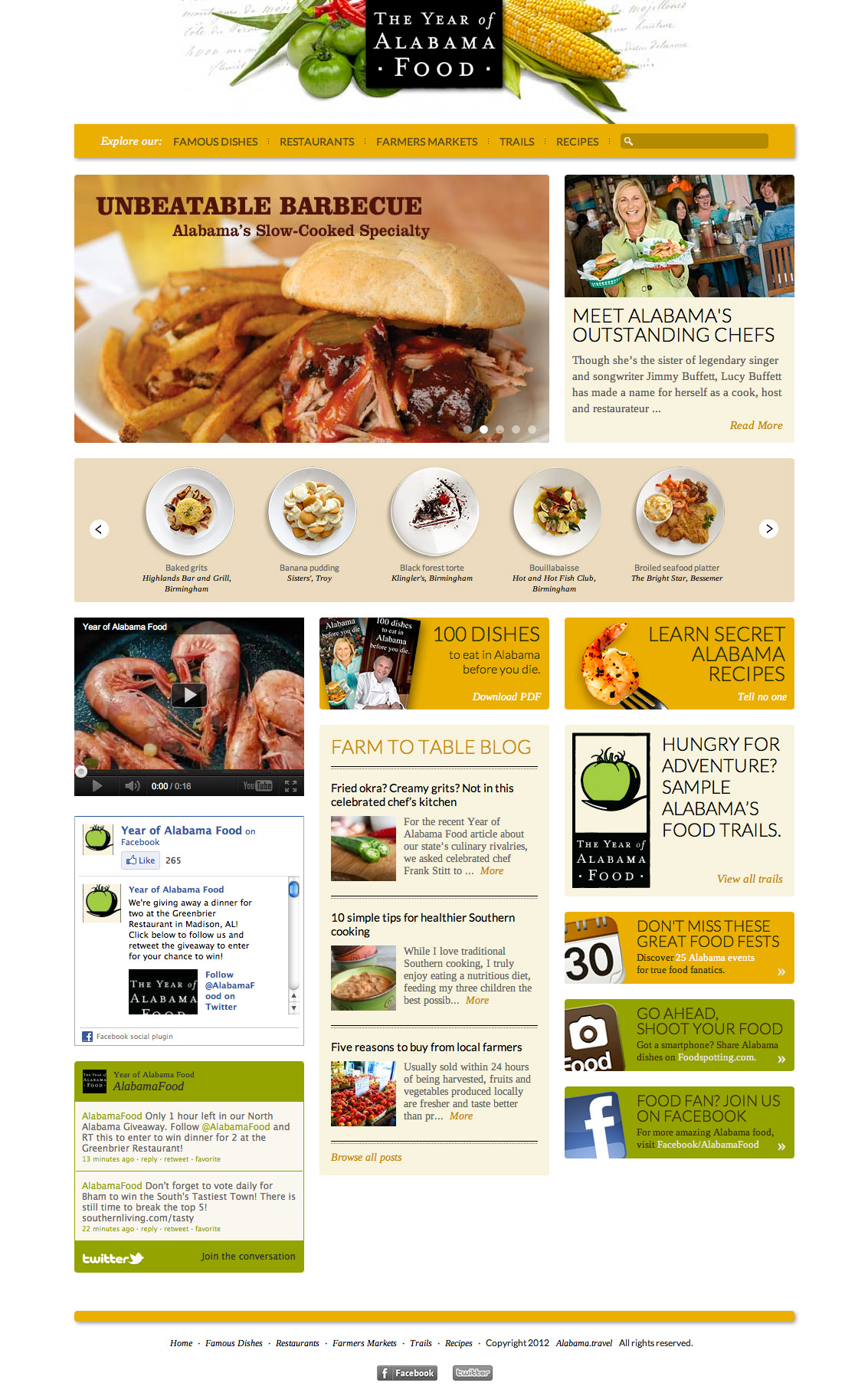 Alabama Tourism Launches The Year Of Alabama Food Website