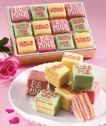 Say how you feel to your Valentine with a gift of Swiss Colony's new Conversation Cakelets