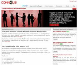 Home Page of www.connXus.com, a new online service