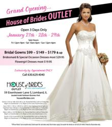Grand Opening House of Brides Outlet Ad