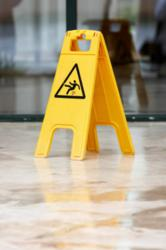 A 'Caution - Wet Floor' Sign
