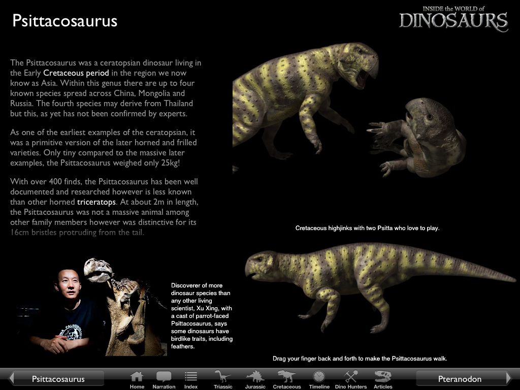 Inside the World of Dinosaurs™ – iPad App Narrated by Stephen Fry