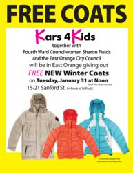 Kars4Kids car donation coat giveaway flyer