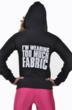 "Jennifer Nicole Lee www.JNLClothing.com ""Im Wearing Too Much Fabric"" Sweatshirt & Shirt"