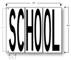 scool crossign stencil