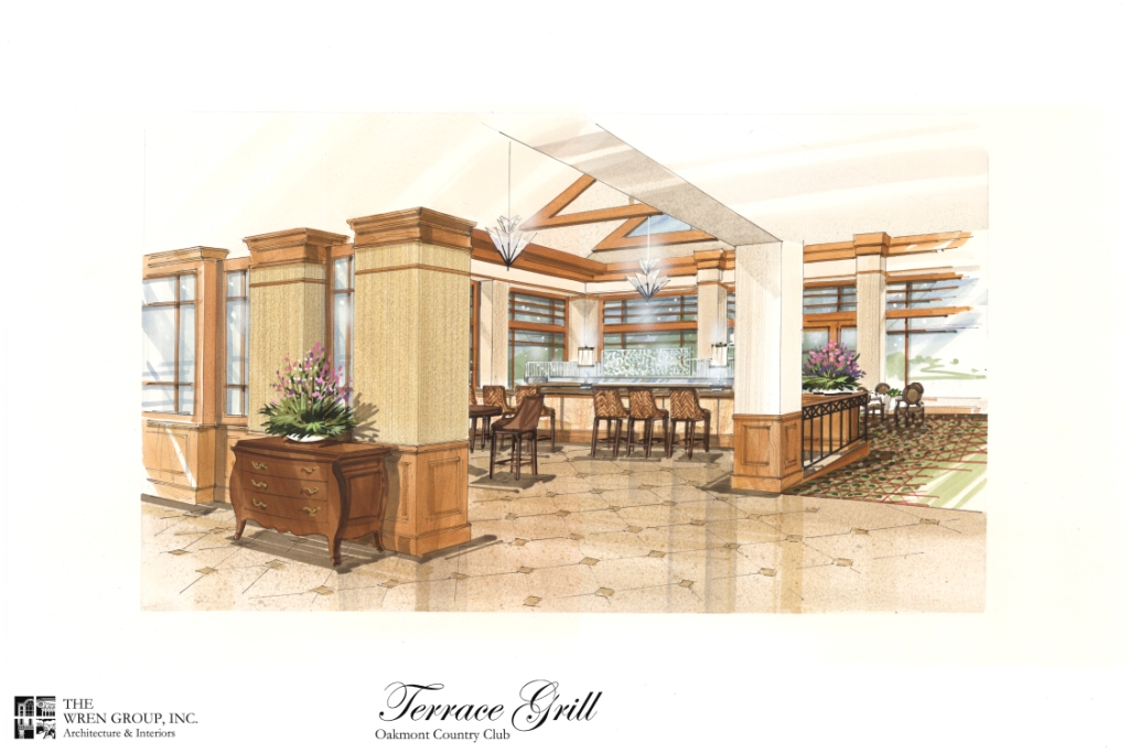 Banquet room renovation nears completion at oakmont for Terrace grill