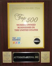Autohaus awarded Diversity Business Top 500 Women Owned Businesses in the U.S.