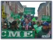 Steve Ipsen marches with members of AFSCME in downtown Los Angeles.