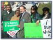 Steve Ipsen supports organized labor and stands with fellow AFSCME workers.
