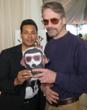 Raffles van Exel and Jeremy Irons/Golden Globes Gift Lounge 2012