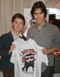 """Twilight"" star Booboo Stewart and Cooper Sakaguchi at the GBK Golden Globes Gift Suite 2012"