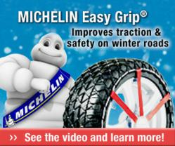 michelin offers new easy grip composite snow chains to retailers new easy to use mesh style. Black Bedroom Furniture Sets. Home Design Ideas