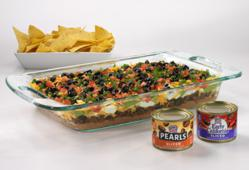 7-Layer Dip with Pearls/Early California Olives