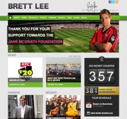 Brett Lee's official website unveiled by Gold Coast Website Design agency Tropixel Creative