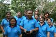 Staff and the owners of Faasai Resort and Spa holding their award for Best Small Hotel