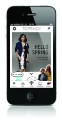 Screenshot of Topshop iPhone app
