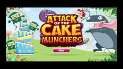 Title Page Still of 'Attack of the Cake Munchers' Viral Game by Katie's Cards