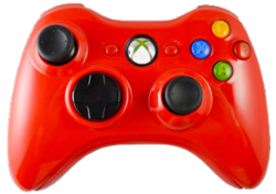 Glossy Red Xbox 360 Controller