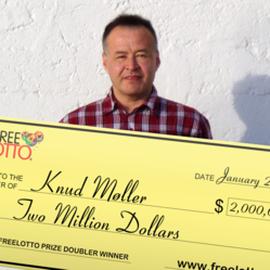 Knud Møller wins $2,000,000.00 Playing FreeLotto.com