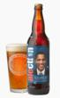The Democrat label design, featuring President Barack Obama, for the Alection 2012 presidential election season at the Half Moon Bay Brewing Company