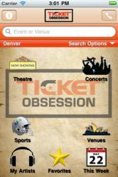 Ticketobsession.com IPhone App