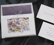 Floral Handcrafted Wedding Invitation