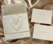 Handcrafterd Heart Wedding Invitation