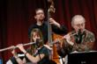 Hailey Niswanger, Rick McLaughlin and Russ Gershon of the Either/Orchestra.  Photo by Rudy Lu