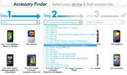 Expansys.com's accessory finder in action