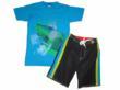 Charlie Rocket Shark Bite Tee & Board Shorts for Blueturtlekids.com