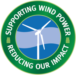 The purchase of wind credits by Verbal Ink Transcription Services will have an impact equal to planting 750 trees.
