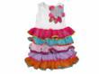 Color Blocked Tiered Tank Dress by Twirls & Twigs for Blueturtlekids.com