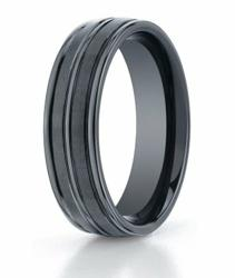 designer mens black titanium ring