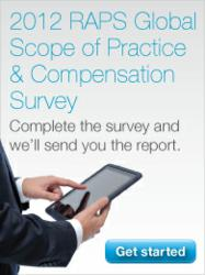 2012 RAPS Global Scope of Practice & Compensation Survey banner ad