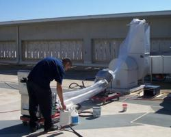 Rooftop administration of duct sealing