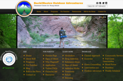 Back2Basics Outdoor Adventures website mock up