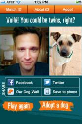 Seamus Dever Invisible Dog Best Friends iPhone Android App adoptable pet