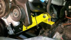 Jeep Cherokee XJ with Brown Dog Offroad Super Engine Mounting Kit installed.