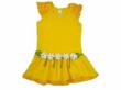 Mulberribush Embellished Daisy Ruffled Dress for Blueturtlekids.com
