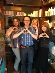 Stylists Kristin, Jonathan, Heidi and Orie Strike a Pose for the Salon Khouri Color for Hearts Campaign