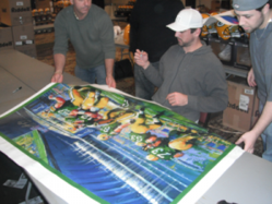 Malcolm Farley & Aaron Rodgers Signing at the Super Bowl
