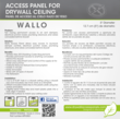 Wallo™ round access panel for drywall ceiling and walls